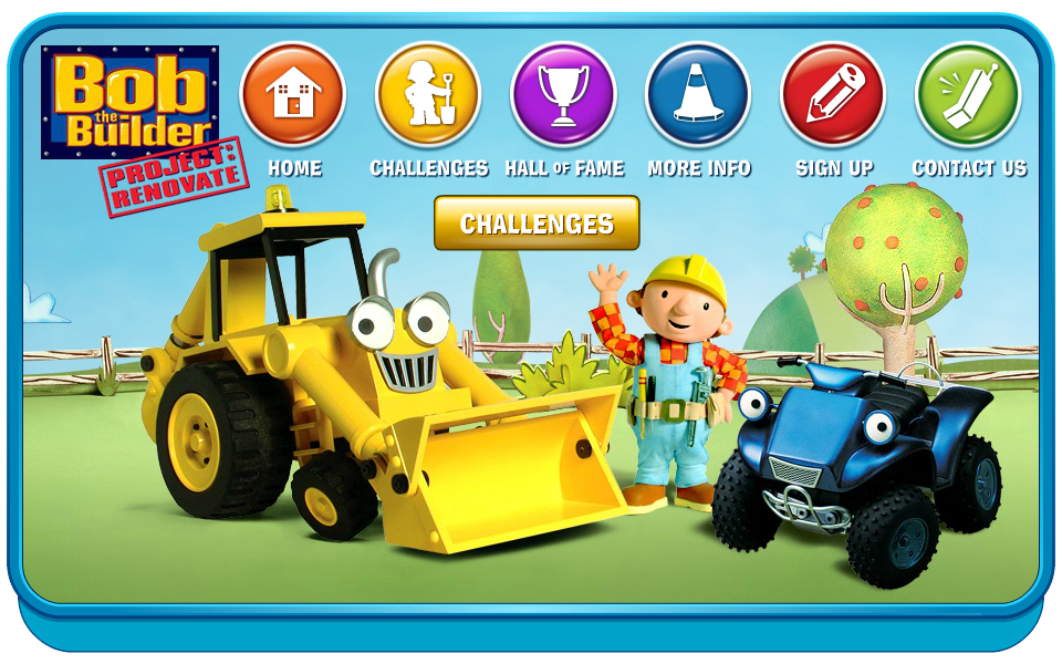 Bob the Builder Microsite Challenges Layout