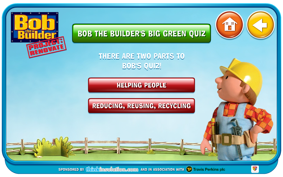 Bob the Builder Microsite Quiz Layout